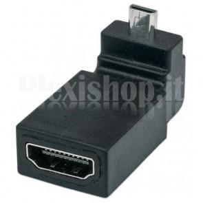 Adattatore HDMI A Femmina / Micro D Maschio Angolato Nero