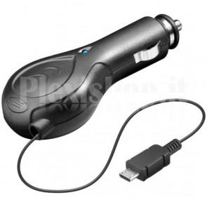 Alimentatore da Auto (12/24V) Micro-USB con Cavo Retrattile 800mA