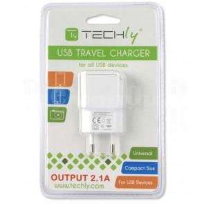 Alimentatore da Rete Italiana 1 porta USB 5V/2.1A Bianco