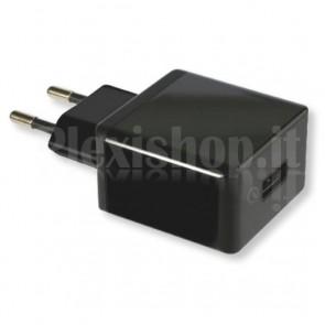 Alimentatore da Rete Italiana 1 porta USB Quick Charge 2.0 Nero