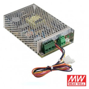 Alimentatore switching con caricamento batteria - 13.8V 5.4A MEANWELL