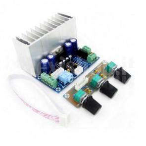 Amplificatore audio 2.1, 20+20+30W TDA7377