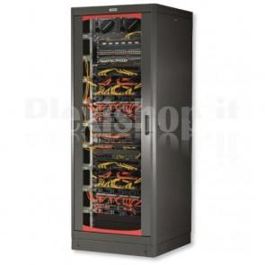 Armadio Rack 19'' 800x800 42 Unita' Doppia Porta Grigliata Nero