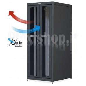 Armadio Server Rack 19'' 800x1000 42U Nero Doppia Porta Grigliata