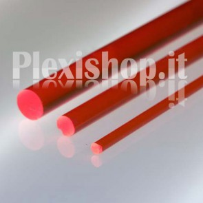 Red FLuorescent Rod Ø 10 mm