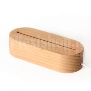 Base a led in legno rettangolare - Luce Bianca