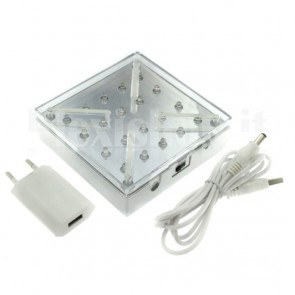 Base luminosa a Led BIANCO - 100x100mm