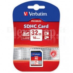 SecureDigital SDHC classe 10 Verbatim 32 GB