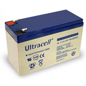 Batteria Ricaricabile 12V 7Ah Ultracell UL7-12(Faston 187 - 4.8 mm)