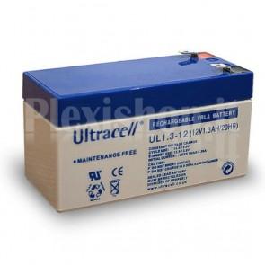 Batteria al Piombo 12V 1,3Ah, UL 1.3-12 (Faston 187 - 4,8mm)