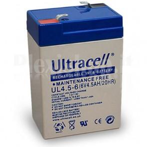 Batteria al Piombo 6V 4,5Ah, UL 4.5-6 (Faston 187 - 4,8mm)
