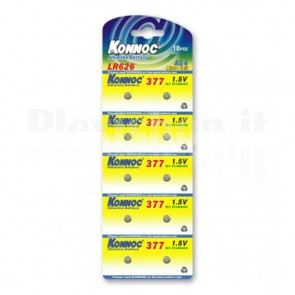 Batterie a bottone Alcalina LR66 LR626 377 AG4 (set 10 pz)