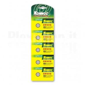 Batterie a bottone Litio CR1616 (set 5 pz)