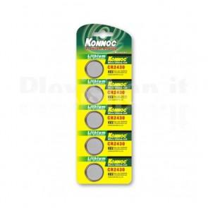 Batterie a bottone Litio CR2430 (set 5 pz)