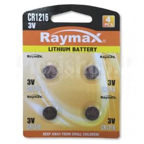 Batterie a bottone Litio CR1216 (set 4 pz)