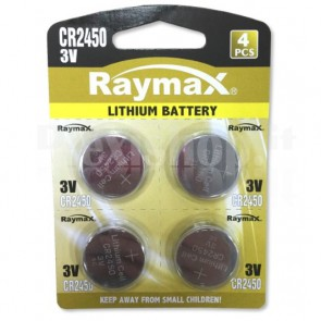 Batterie a Bottone Litio CR2450 (set 4 pz)