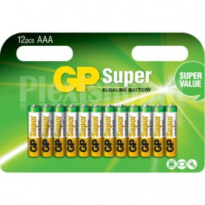 Blister 12 Batterie AAA Mini Stilo GP Super