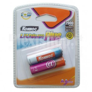 Blister 2 batterie Litio stilo AA 2900mAh