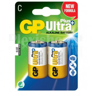 Blister 2 Batterie Mezza Torcia C GP Ultra Plus