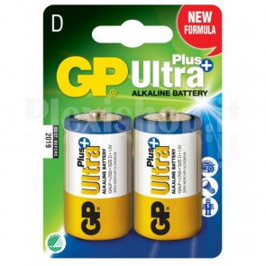 Blister 2 Batterie Torcia D GP Ultra Plus