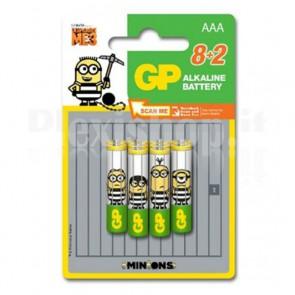 Blister 8+2 Batterie Alcaline AAA MiniStilo GP Minions