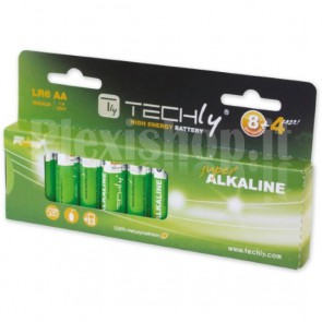 Blister 12 Batterie High Power Stilo AA Alcaline LR06 1,5V