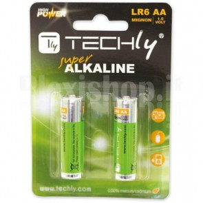 Blister 2 Batterie High Power AA Stilo Alcaline LR06 1,5V