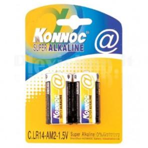 Blister 2 Batterie Mezza Torcia C Alcaline LR14
