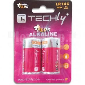 Blister 2 Batterie Power Plus Mezza Torcia C Alcaline LR14 1,5V