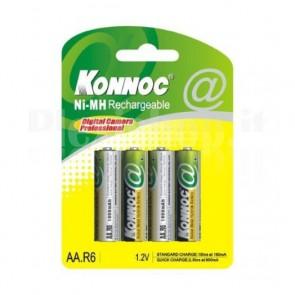 Blister 4 Batterie Ricaricabili AA Stilo HR6 2800mAh