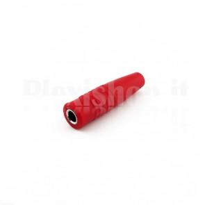 Boccola volante da 4mm a saldare, rosso