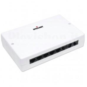 Box 8 Porte UTP per Connessioni di Rete Cat. 6 Bianco