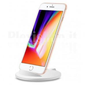 Caricabatterie Wireless Qi Stand Stondato 5W Bianco