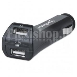 Caricatore da Auto 2p USB 12V 2.1Ah