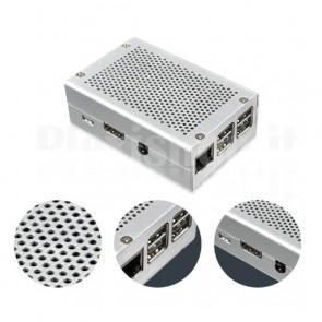 Case in Alluminio per Raspberry Pi 2 e 3 con Griglia