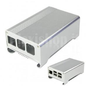 Case in Alluminio per Raspberry Pi 2 e 3 con Ventola