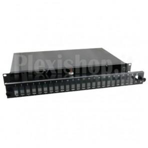 Cassetto Ottico 19'' 12 porte SC Duplex Nero Fisso
