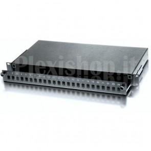 Cassetto Ottico 19'' 24 porte LC Duplex Nero