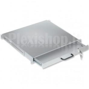 Cassetto Porta Tastiera 1U per Armadi Rack 19'' con Serratura Grigio
