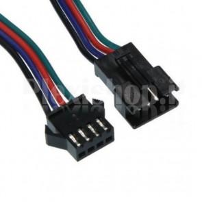 Cavetto multicolore per LED WS2812B terminato con connettore femmina di tipo SM, 3 contatti