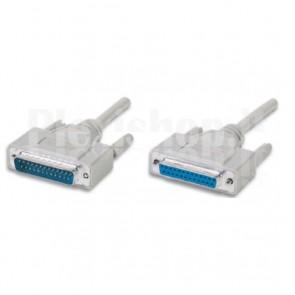 Cavo Seriali/Paralleli M/F D-Sub 25p. M/F 3 m