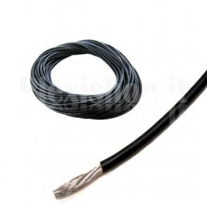 Cavo siliconico nero 22 awg - 0.3 mmq