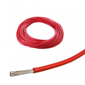 Cavo siliconico rosso 16 awg - 1.25 mmq