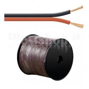 Cavo Audio per diffusori acustici Rosso/Nero 0,75 mm² matassa 100mt