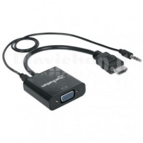 Cavo Convertitore da HDMI a VGA con Audio e MicroUsb 30cm Nero
