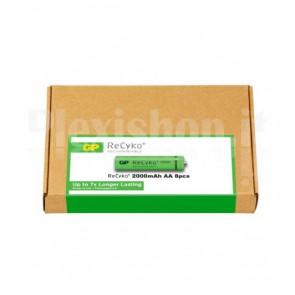 Confezione risparmio 8 Batterie Ricaricabili AA Stilo 2000mAh GP ReCyko+