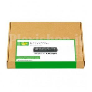 Confezione risparmio 8 Batterie Ricaricabili AAA Mini Stilo 800mAh GP ReCyko Pro