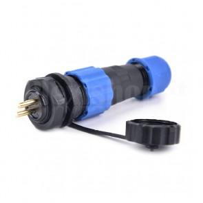 Kit Connettore Ermetico a Vite 5P Presa + Spina