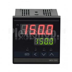 Controller di temperatura XMTG-7411K con sonda di tipo K, 0~ 1300°C