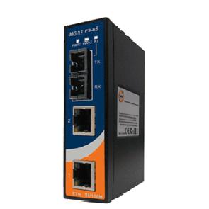 Convertitore Industriale Fast Ethernet a fibra ottica su guida DIN